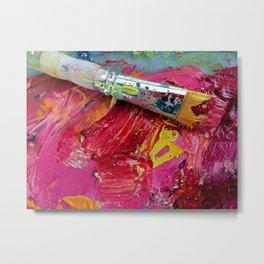 Artist's Pink Paint Palette Metal Print