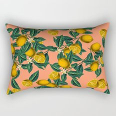 Lemon and Leaf Rectangular Pillow