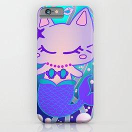 the little purrmaid - underwater cat mermaid / kawaii merkitty  iPhone Case