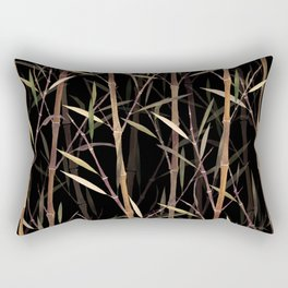 Dry Bamboo Forest at Night Rectangular Pillow