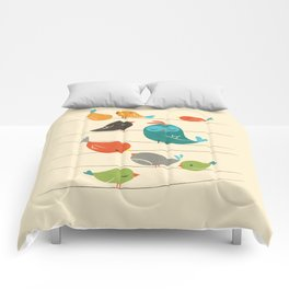 Colorful Birds Comforters