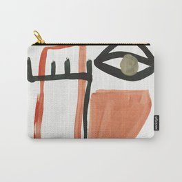 Abstract Face Carry-All Pouch