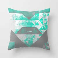 spires Throw Pillows featuring spires dymynd by Spires