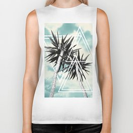 Cali Summer Vibes Palm Trees Geometric Triangles #1 #tropical #decor #art #society6 Biker Tank