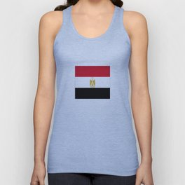 flag of egypt- Egyptian,nile,pyramid,pharaon,cleopatra,moses,cairo,alexandria. Unisex Tank Top