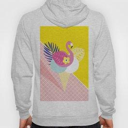 Pink Flamingo Summer Ice cream scoops #summervibes Hoody