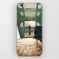 door iPhone & iPod Skins featuring Emergency Door by Rachel Bellinsky