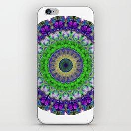 Green Light Mandala Art by Sharon Cummings iPhone Skin