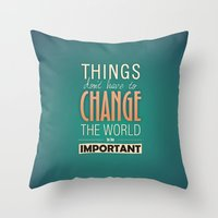 steve jobs Throw Pillows featuring steve jobs by techjulie