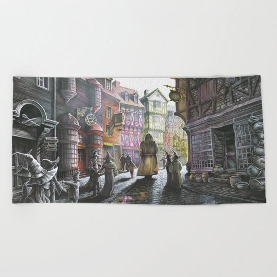 Diagon Alley Beach Towel