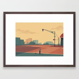 Urban Wildlife - Giraffe Framed Art Print