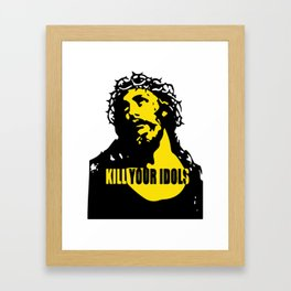 As Worn By Rose Kill Your Idols Mens Guns  Roses jesus Framed Art Print