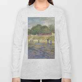 Bank of the Seine by Vincent van Gogh Long Sleeve T-shirt
