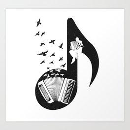 Musical - Accordion Art Print