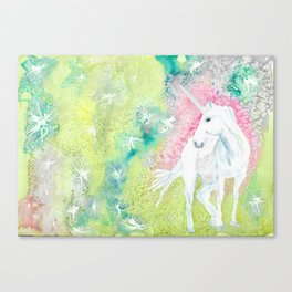 Unicorn and the Faries Canvas Print