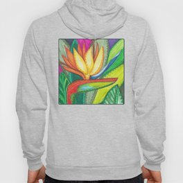 Bird of Paradise Quilt Square Note Hoody