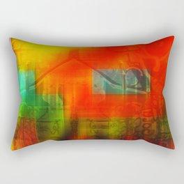 Spectrum Orange Rectangular Pillow