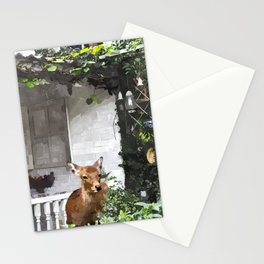 Deer Near House Stationery Cards