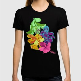 Octopus Flower Garden T-shirt