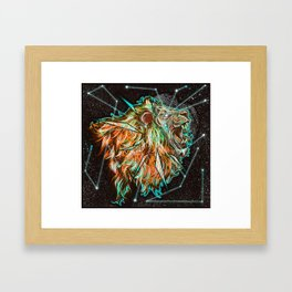Space lion  Framed Art Print