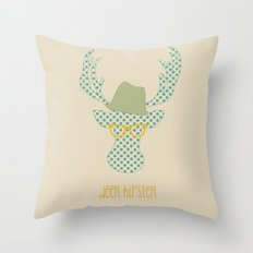 Deer Hipster Throw Pillow