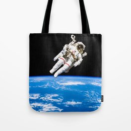 Astronaut Bruce McCandless Floating Free Tote Bag