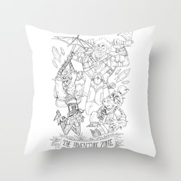The Adventure Zone: Tres Horny Boys Throw Pillow