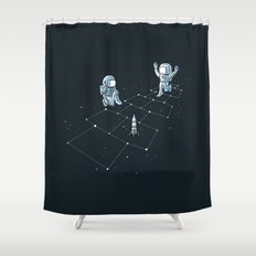 Hopscotch Astronauts Shower Curtain