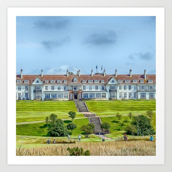 The Turnberry Hotel Art Print