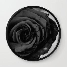 Coal Rose Wall Clock