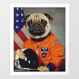 Space Pug Art Print