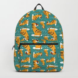 Tiger Winter Pattern Backpack