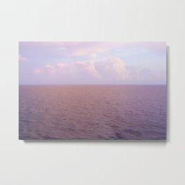 Red, Pink & Purple Ocean Sunset Metal Print