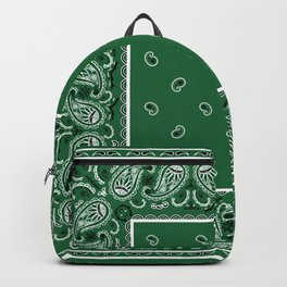 Classic Green Bandana Backpack