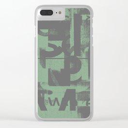 Typefart 002 Clear iPhone Case