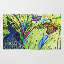 Peacock In Dreamland Rug
