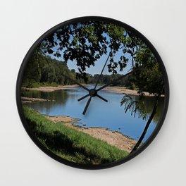 River Road View Wall Clock
