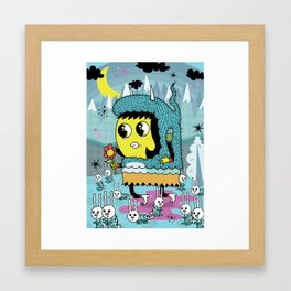 The Birds and the Bunnies  Framed Art Print