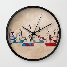 chess #chess #sport Wall Clock