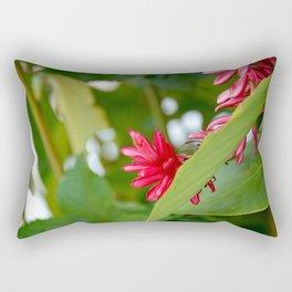 belizean flower Rectangular Pillow