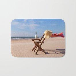Windy Beach Day Bath Mat