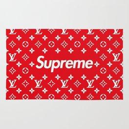 supreme x LV red Rug