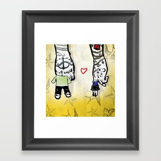 Inkling of Love Framed Art Print