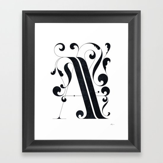 "Drop cap ""A"" Framed Art Print"