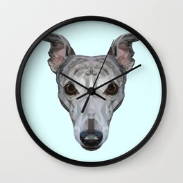 Whippet // Pastel Blue Wall Clock