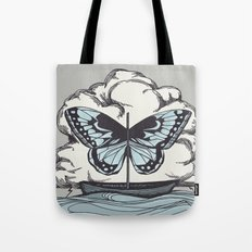 Butterfly Boat - We Are Not Troubled Guests Tote Bag