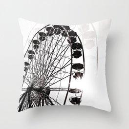 ferris wheel fair Throw Pillow