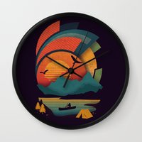 explore Wall Clocks featuring Explore by The Child
