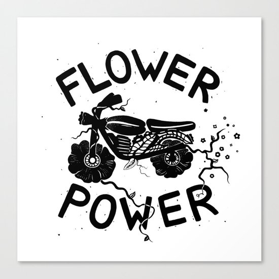 Floral Fuel Canvas Print