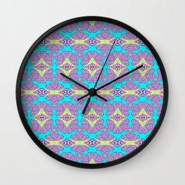 Trippy Funky Pastel Vintage Retro Psychedelic Print Wall Clock